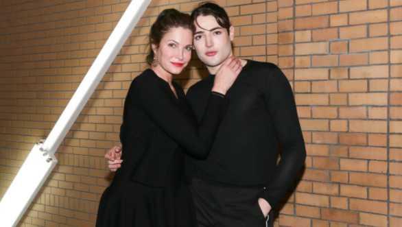 Harry Brant y su madre Stephanie Seymour