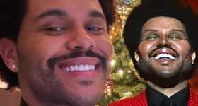 La cara de The Weeknd en su vídeo Save Your Tears. WTF?