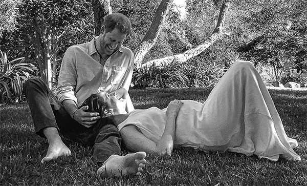 Meghan Markle y el Principe Harry esperando su segundo baby