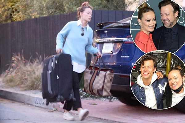 Olivia Wilde mudándose a casa de Harry Styles