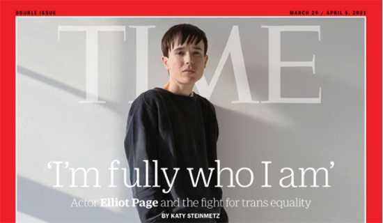 Elliot Page en Time magazine