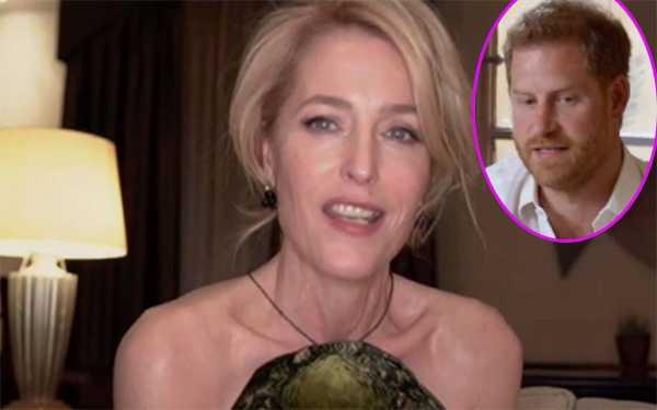 Gillian Anderson reacciona a comentario del Principe Harry sobre The Crown