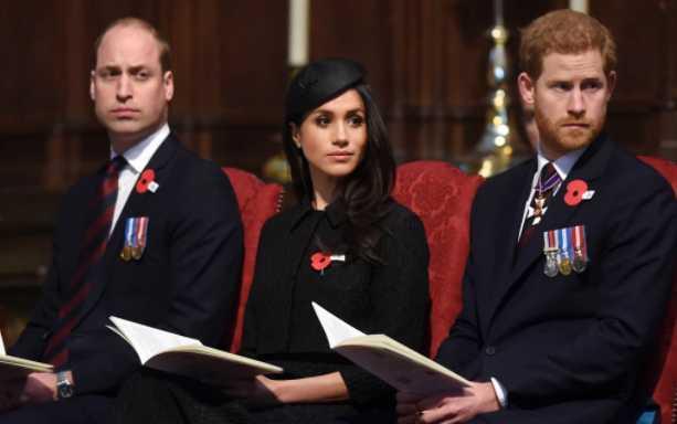 El Principe William, Meghan y el Principe Harry