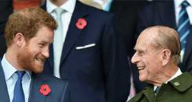 Príncipe Harry llegó a UK para el funeral de su abuelo
