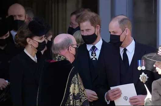 prince william prince harry prince philip funeral