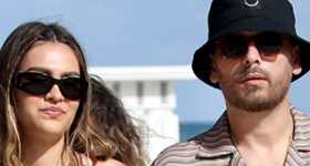 Scott Disick y Amelia Hamlin en Miami
