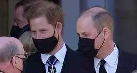 Qué hablaron el Principe Harry y el Principe William en el funeral?