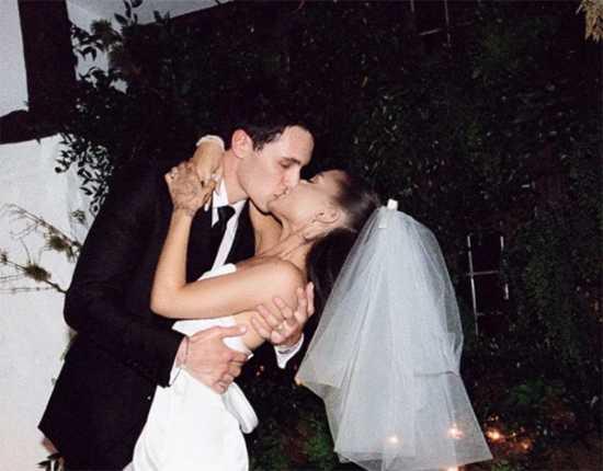 Ariana Grande publica fotos de su boda con Dalton Gomez!