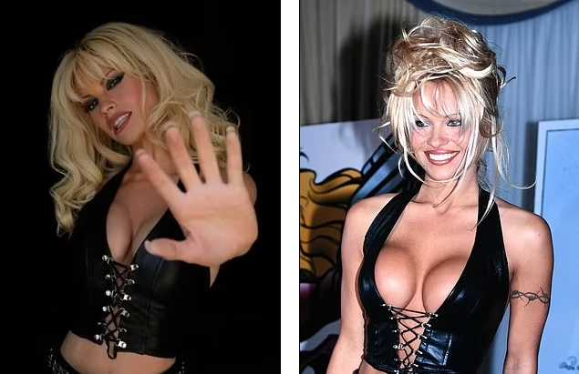 Lily James como Pamela - Pamela Anderson en 1996