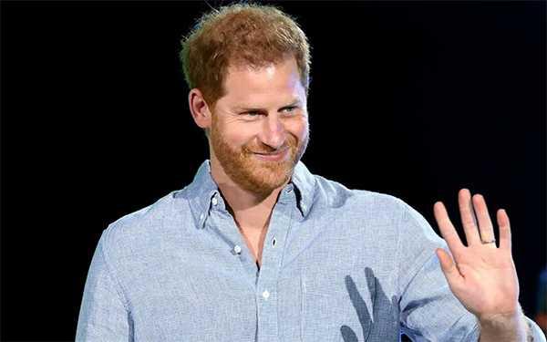 Principe Harry solo en el Global Citizen's Vax Live en LA