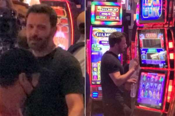 Ben Affleck en Las Vegas con la mamá de JLo