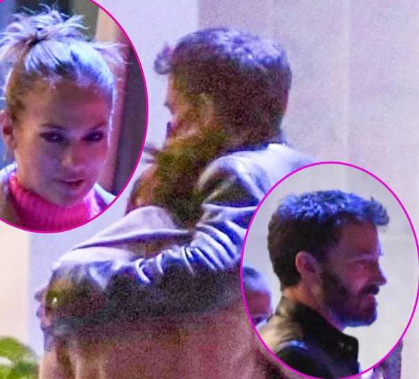 Jennifer Lopez y Ben Affleck cariñosos en un restaurante