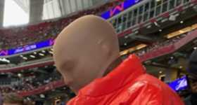 Kanye West viviendo en un stadium de Atlanta