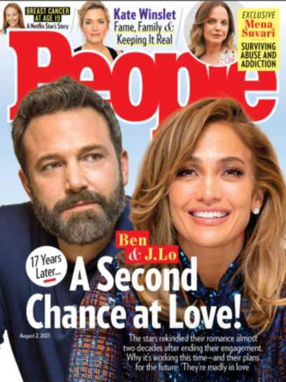 JLo et Ben Affleck en couverture de People
