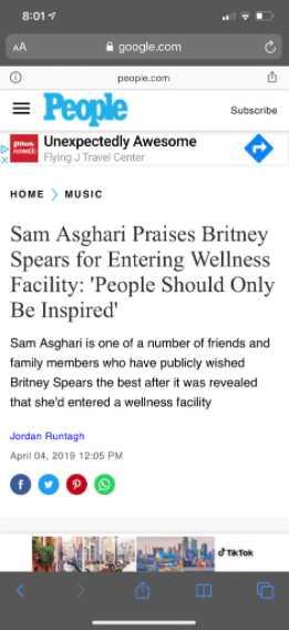 sam asghari reporte people