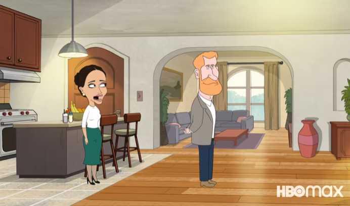 Meghan et Harry dans la série animée de HBO Max Le Prince