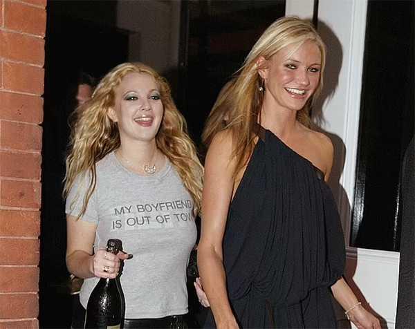 Drew et Cameron en 2003