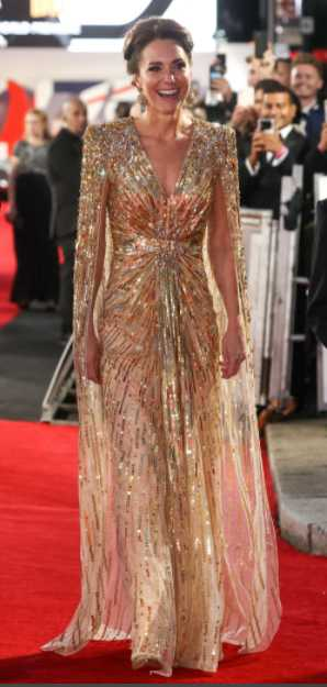 kate middleton gold dress