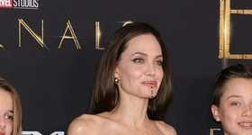 Angelina Jolie llevó a sus brangelinos a la premier de Eternals