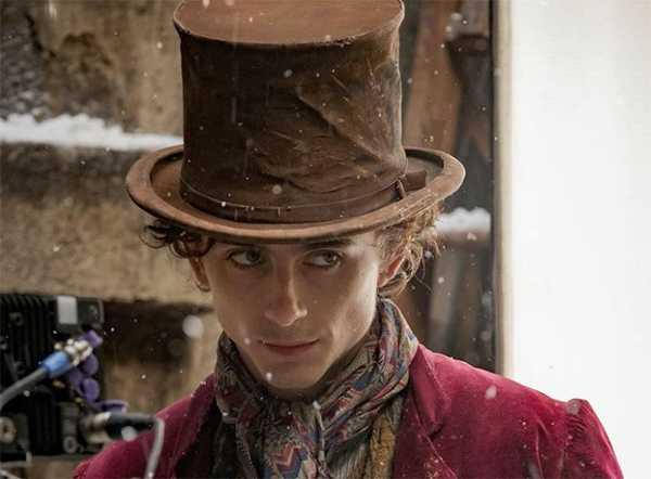 Timothee Chalamet como Willy Wonka